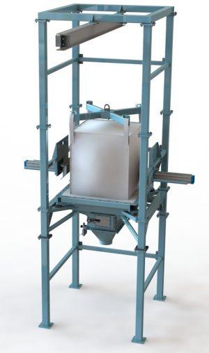 bulk bag discharge station hoist, bulk material handling