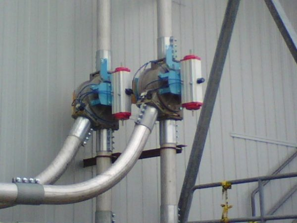 installed plug diverters - Carolina Conveying