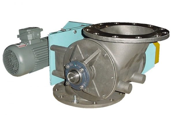 side entry rotary airlock valve