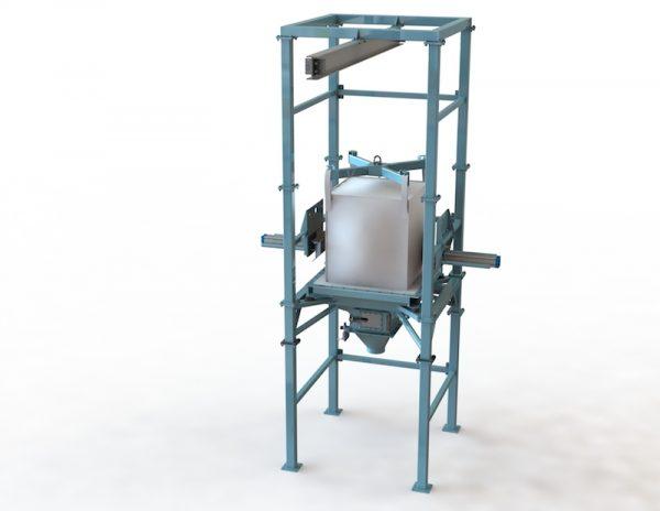 bulk bag discharge station, bag unloader, bulk material handling