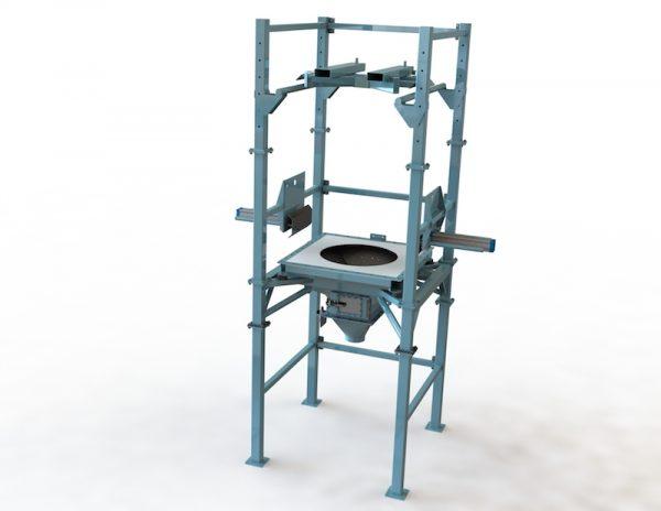 bulk bag discharge station, bulk material handling